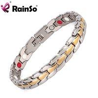 bar magnet sale - Fashion Men s Gold Silver Plated Bracelet Magnetic Bracelet magnets ion and FIR Jewelry Bracelet For Sale OSB