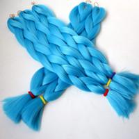 aqua hair color - quot g AQUA NIGTH Blue color jumbo braids synthetic synthetic braiding hair kanekalon jumbo braid