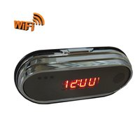 Wholesale Mini Portable WIFI Video Camera Spy Alarm Clock Indoor HD P With Video Audio Recorder Motion Activated Function by IOS Android Control