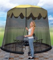 Wholesale Anti Mosquito Nets Foot Umbrella Table Screen Outdoor Entertain Camping Patio Mesh Umbrellas Mosquito Nets Tents Black
