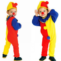 baby clown costume - Halloween children funny clown cosplay clothing fashion Masquerade Costumes baby kids Halloween suit S M L C1205