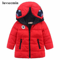 Wholesale New Unisex Kids Boy Girl Cotton Padded Winter Coats Warm Jacket Thick Hooded Baby Children Outerwear With Glasses JW0603