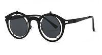 acrylic coat - Steampunk Sunglasses Women Fashion Metal Frame Reflective Coating HD Lens Brand Designer Round Sun Glasses for Men