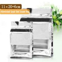 alu foil - 100 x20cm Small Alu Flat Bottom Bag Foil Snack Packaging Bags Metallic Zip Lock Bag