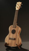 Wholesale Hot Sale Acoustic Zebrawood inch Soprano Ukulele Original Italy String Hawaii Ukelele Guitar Musical Instruments