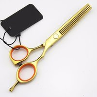 Wholesale 2pcs Set Inch Hair Scissors Pro Salon Hairdressing Styling Tools Cutting Scissors Thinning Shear Salon Cutting Products