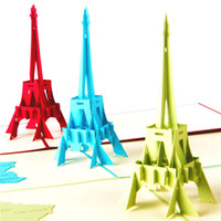 arrival birthday wishes - New arrival La Tour Eiffel Tower Handmade Creative Kirigami Origami D Pop UP Greeting Gift Cards