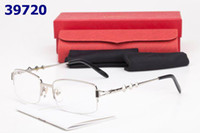 Wholesale New Semi Rimless Plain Glasses Frames Alloy For Men Eyeglasses Frame optical glasses women eyewear frames
