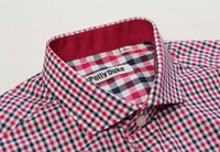 Wholesale Top quality cotton men shirts check shirt for men newest business shirts mens plaid classic business dress in European sizes