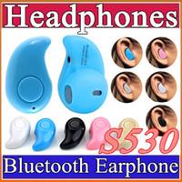 b headsets - Gold Sport Running S530 Mini Stealth Wireless Bluetooth Earphone Stereo Headphones music Headset Retail Box for iphone7 plus B EJ