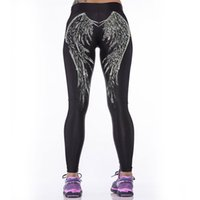 angels fitness - D Angel Wings Printed Workout Leggings Women Sports Elastic Leggings Fitness Calzas Deportivas Mujer Work Out Clothes For Women