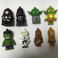 best pendrives - 2016 New Arrival USB Flash Drives Star Wars Cartoon PenDrives Real GB GB GB GB GB USB Memory Stick Flash Disk Best Selling