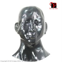 anatomical ear - Sexy Anatomical Latex Masks Rubber molds D moulded Hoods Head Fancy Headgear Fetish Bondage erotic with ears open nostril