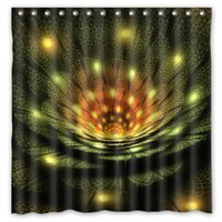 abstract curtains - Abstract Fractal Light Design Shower Curtain Size x cm Custom Waterproof Polyester Fabric Bath Shower Curtains