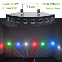 auto show displays - New W Heads LED RBGW Stage Lights Beam Digital Display DMX Show Dance Disco Bar Xmas Home Party DJ Lighting LE H