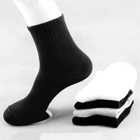 Wholesale 3Pairs Winter Casual Socks For Men Autumn Black White Gray Business Socks Classic Solid Fashion Sport Man Sock