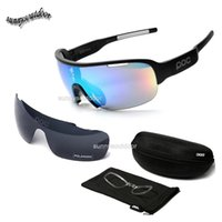 Wholesale Outdoor Sports Hiking Sunglasses Tactical Glasses Two Lens Changeable Sunglass POC Style Fashion Cycling Sports Glasses