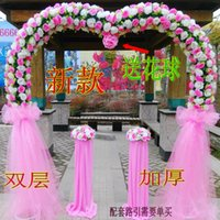Wholesale Silk flower arches marriage ceremony opening the whole door happiness wedding props Arch activities