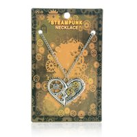 angels rhinestones - 2016 Vintage Steampunk Jewelry Necklace Of Key Butterfly Angel Wings Owl Heart Pendant Necklace Come With Jewelry Card