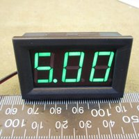 Wholesale DC4 VDC Brand New DC V to V Green Digital Voltmeter Volt Panel Meter