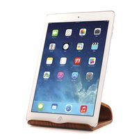 Wholesale Hot SAMDI Real Wooden Mobile Tablets Stand Holder for iPad Air For Galaxy Tab Note Tab2 Two Colors