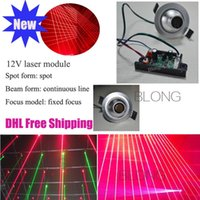 Wholesale 12V Red mw Laser Module Stage Lighting Accessories Spot Laser Module Laser Thick Laser Column Longtime life Low comsuption