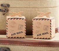 Favor Boxes airplane birthday party favors - Let the Adventure Begin Airplane Kraft Favor Candy Gift Fashion Boxes For Party Favors
