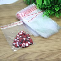 Wholesale 100pcs Clear Plastic x13cm Resealable Cellophane Small Bag Packing Storage Seal Bags Jewelry Zip Lock Poly Bags
