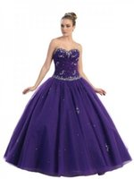 amazing delivery - Amazing Plus Size Sweetheart With Rhinestones Appliques Tiered Tulles Grape Quinceanera Dresses Onlines Nyc Customization Fast Delivery