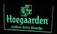 beer belgium - LS482 g Hoegaarden Belgium Beer Bar Neon Light Sign