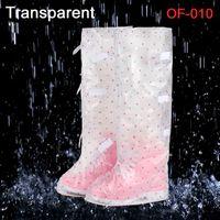 Wholesale Shoe covers Gaotong female models Anti slip Shoe Covers Waterproof Double zipper Overshoe