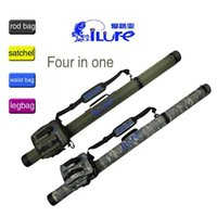Wholesale ILURE High Quality Multi Purpose Fishing Tackle Bag Fish Bag Waterproof Canvas Camouflage And Green Rod Bags