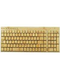 desktop wooden - Eco friendly Handmade Wooden G Wireless Keyboard Mouse Kit Wood Keyboard For PC Computer Laptop Desktop