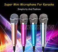 Wholesale For Iphone Super mini Microphone Stylish Mobile Sing Microphone For Samsung Note For Android Mobile Phone With Retail Package