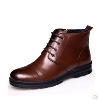autumn winter fashionable shoes - Autumn winter casual shoes men s leather shoes leather men s shoes fashionable Europe and the United States high for men s boots