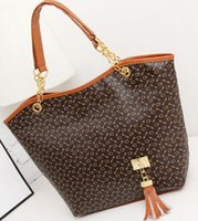Wholesale new Han edition single shoulder bags handbag tassel pendant printed big bag ladies handbags Shoulder Bags Fashion Bags
