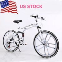 Wholesale US STOCK Unisex Mountain Bike Inch Speed Double Shock Double Disc Brake Ten Rim Bicycle