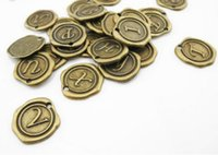 alphabet - Set of letters mm Antique Silver Bronze Charms Pendants Monogram Initial Stamped Wax Seal Alphabet Letter A00130