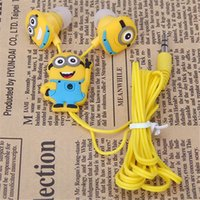 apple computers kids - Best gift Cartoon Anime Earphone Minion despicable Me mm birds Headset For iPhone Mobile Phone MP3 player Computer kids