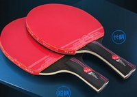 Wholesale Hybrid Wood Brand Quality Table tennis racket Ddouble Pimples in rubber Ping Pong Racket table tennis