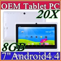 20X DHL 2015 7 pouces Android4.4 Google 3000mAh Batterie Tablette PC WiFi Quad Core 1.5GHz 512 Mo 8 Go Q88 Allwinner A33 7
