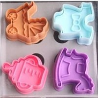 baby shower stamps - 1Set D Baby Clothes Shower Hand Press Stamp Biscuit Cookie Plunger Cutter Mold