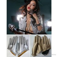 Wholesale Women Lady Short Half Palm Gloves Cool Synthetic Leather Gloves C00453 SMAD