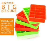 Wholesale Silicone Square Ice Cube Tray Maker Mold Mould Making Candy Chocolate Baking Cake Fruit Pudding for Cocktail Cola Bar Pub Party Units hot