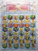 Wholesale New sheets Pikachu Poke Badge Button Pin CM party favor