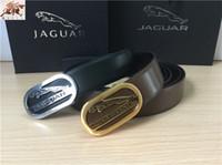 belt the brand - The New Brand JAGUAR Copper Oval Buckle Diamond Pattern Double sided Leather Belt Men Is Formal Wear Business Casual