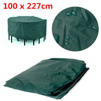 Wholesale 100 x cm Durable Waterproof Outdoor Furniture Cover ROUND Patio Dining Coffee Table Chair Shelter breathable large cover