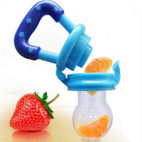 baby fruit feeder - Baby Infant Toddler Feeding silicone Food Fruit Feeder Kids Nipple Feeding Safe Nipple Pacifier T7034