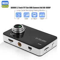 auto zoom camera - K6000 Car DVR Camera Novatek Dash Cam Auto Video Recorder Full HD P Dual LED Night Vision Video Registrator Car logger