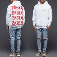 Wholesale the life of pablo kanye hoodie men hip hop pull paris opening season jackets i feel like pablo